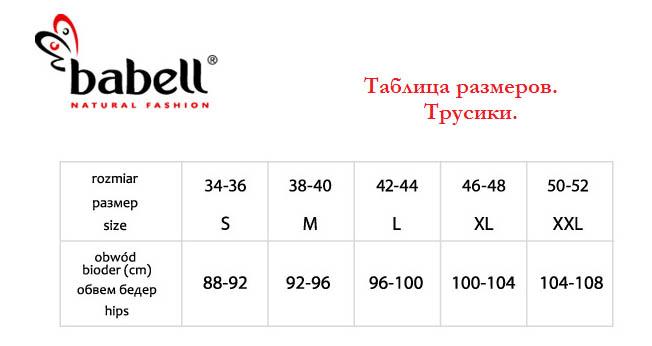 Размерная сетка Babell Польша