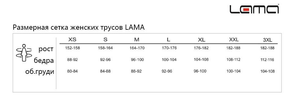 Размерная сетка Lama (Польша)